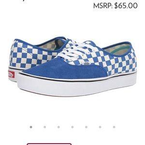 Vans ComfyCush Authentic Checker) Lapis Blue6